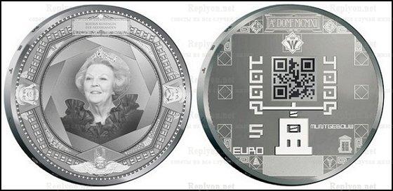 Монета с QR-кодом