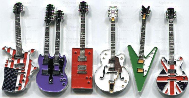 Монета в виде гитар