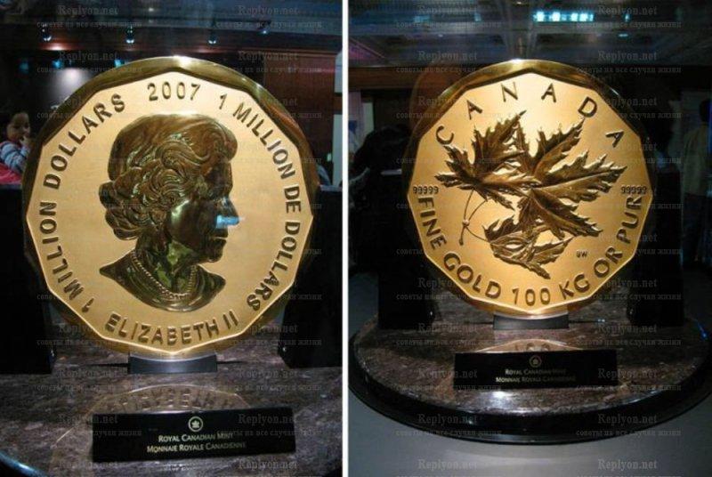 Монета 100 кг.