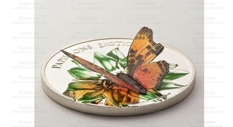 Монета Камерунская бабочка