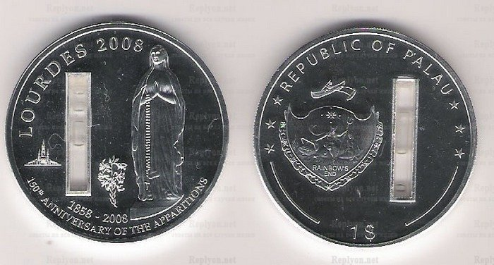 Монета Дева Мария из Палау