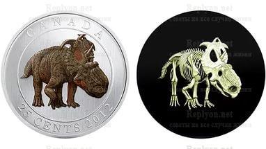 Монеты Скелет динозавра